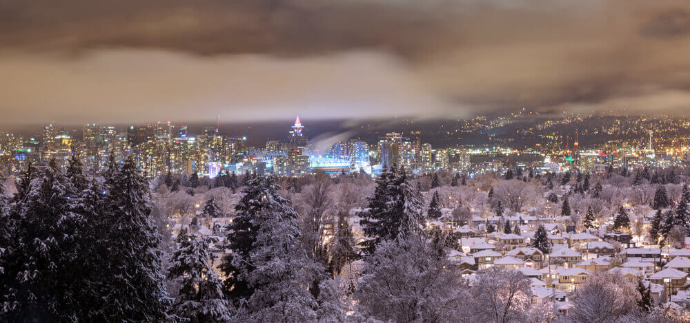 Vancouver Canada in New Year's eve