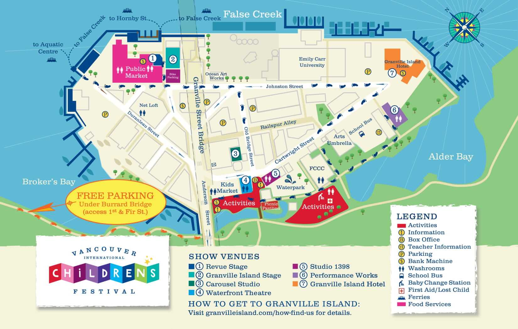 Vancouver International Children's Festival Map